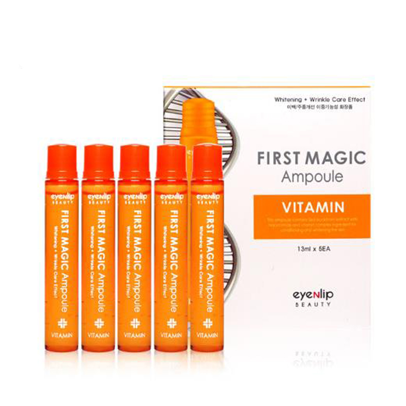 US $15 71 21% OFF|Korea Cosmetic EYENLIP First Magic Ampoule 5pcs Face Skin  Care Vitamin Serum Snail Collagen Cream Peptide Essence Anti Wrinkle-in