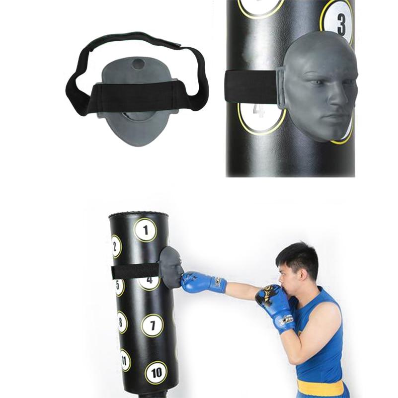 Borracha vívida manequim humano rosto mitt boxe chutando almofada mma taekwondo jab luta sparring treinamento pressão alívio de perfuração alvo 6