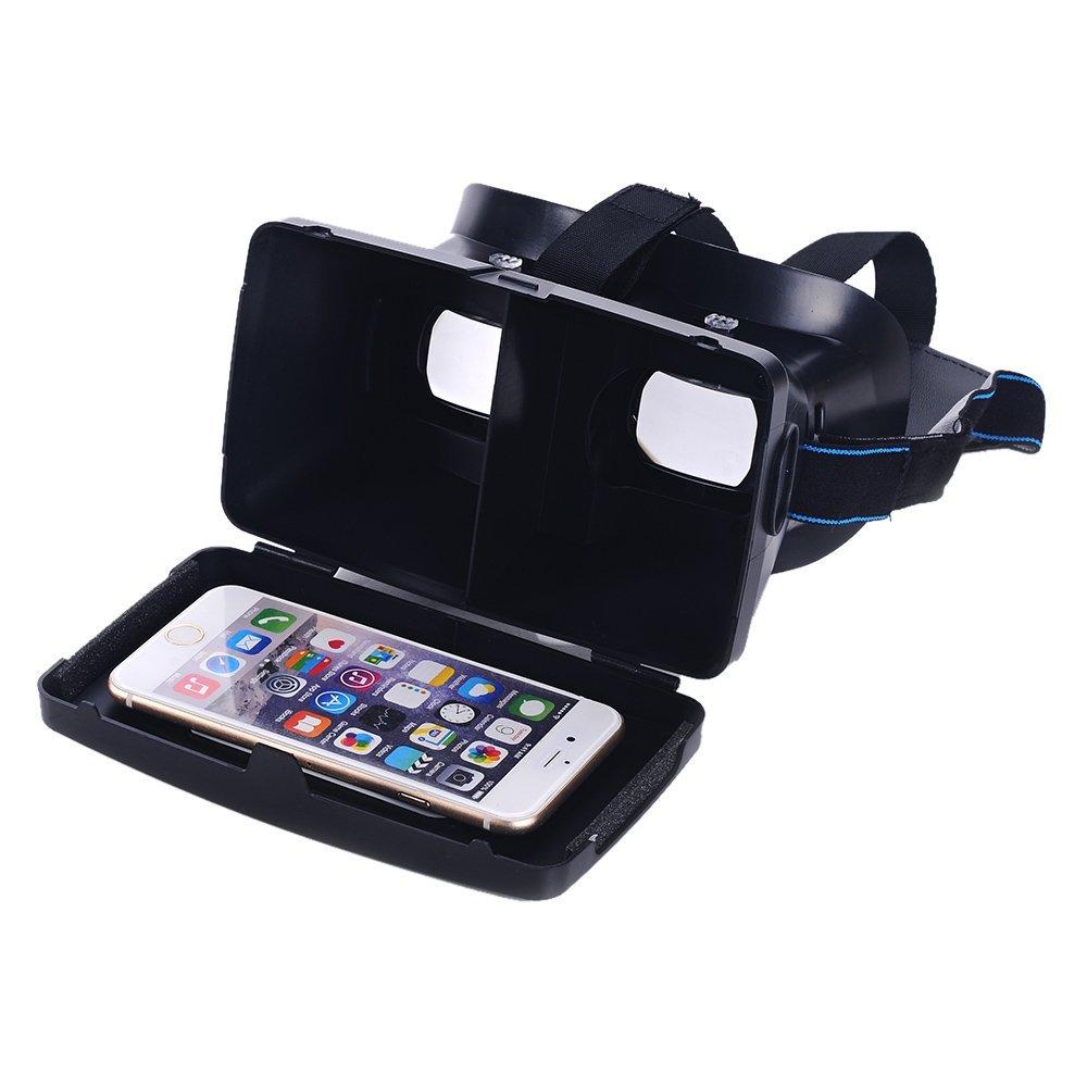 Top Deals <font><b>Portable</b></font> <font><b>Head-Mounted</b></font> <font><b>Google</b></font> <font><b>Cardboard</b></font> Version 3D VR <font><b>Glasses</b></font> Virtual Reality <font><b>DIY</b></font> 3D VR Video with Magnetic Switch Mo
