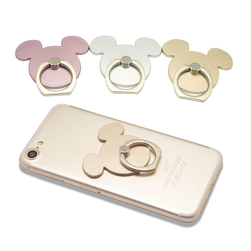 2018 Supporter For Iphone Pad Cartoon Smartphone Holder Stand Mickey 360 Degree Finger Ring Mobile Phone Socket