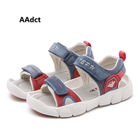 AAdct 2019 summer baby boys sandals new little kids sandals for girls beach sports children shoes Genuine leather Brand