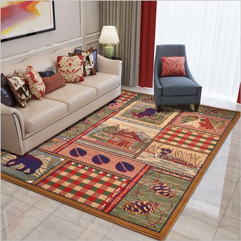 200X290cm America Hippie Polypropylene Large Soft Carpet For Living Room Bedroom Kid Play Meeting Room Rug Home Floor Fashion