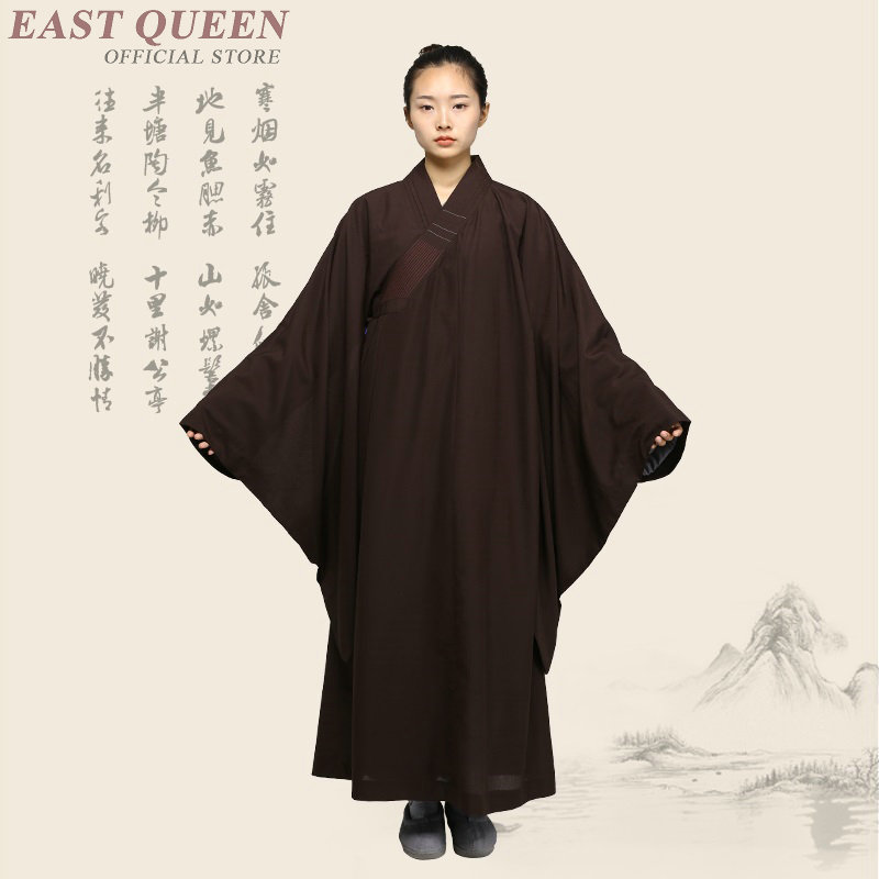 Buddhist monk robes clothing costume clothes for female women shaolin monk robes zen meditation clothing  KK1984 H