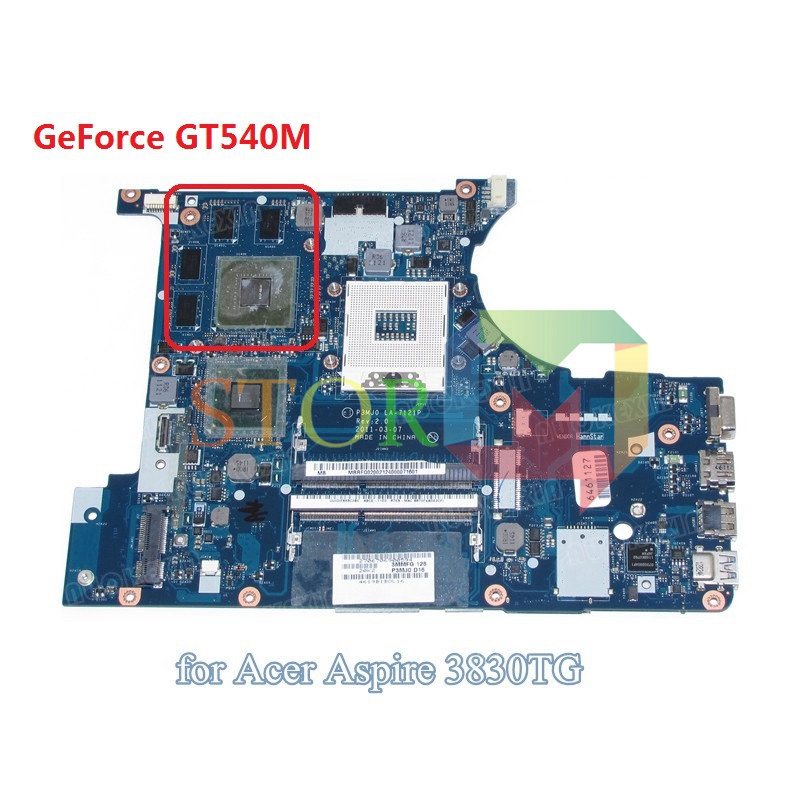 NOKOTION for acer aspire 3830 3830TG laptop motherboard MBRFQ02002 MB.RFQ02.002 P3MJ0 LA-7121P HM65 DDR3 GT540M mbrr706001 mb rr706 001 laptop motherboard fit for acer aspire 5749 series da0zrlmb6d0 c0 hm65