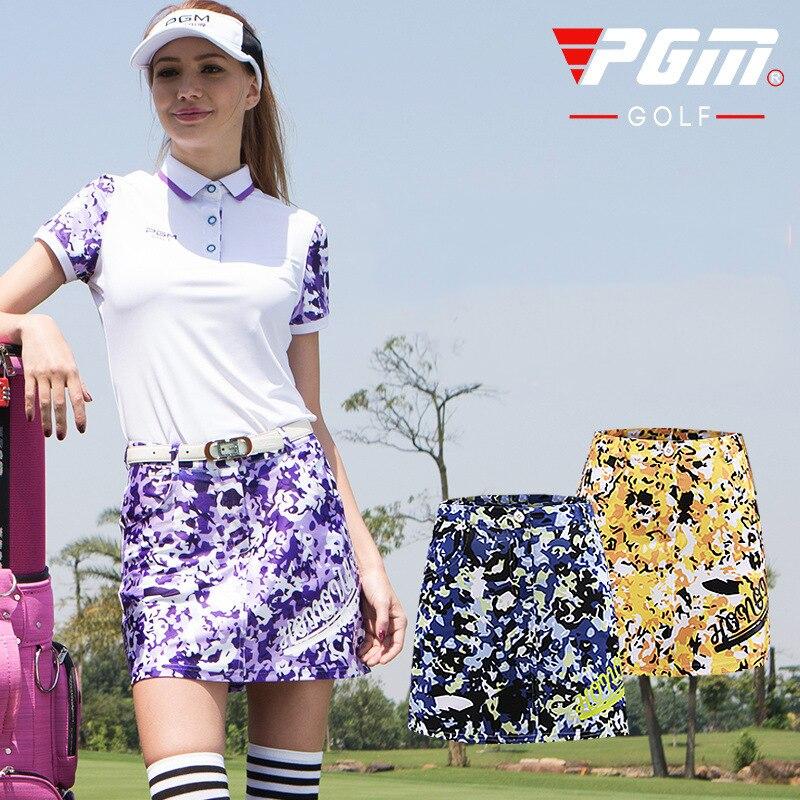 PGM Golf Skirt For Women Brand Summer Camouflage Elasticity Cotton Anti-emptied Breathable Ladies Golf Sports Skorts