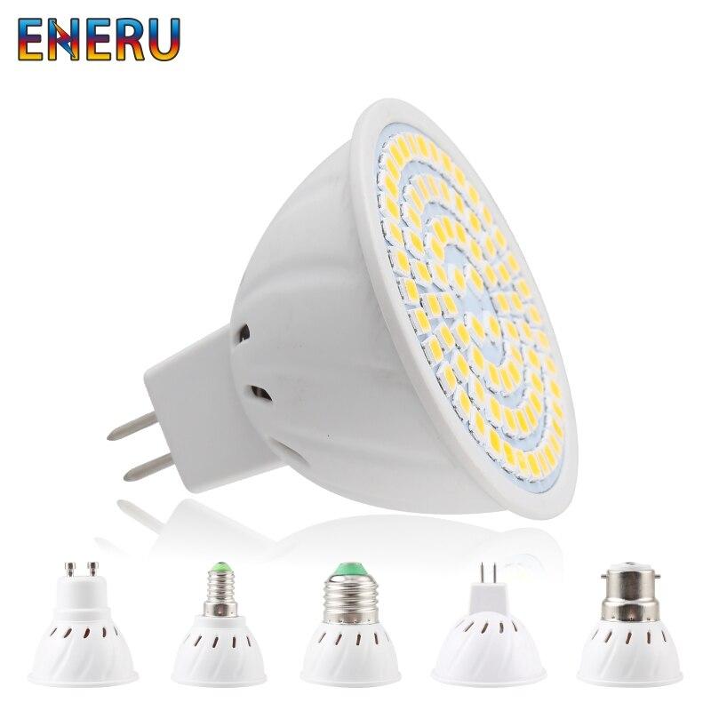 Lampada LED Spotlight Bulb E27 E14 MR16 GU10 B22 220V Bombillas LED Lamp 48 60 80 LED 2835 SMD Lampara Spot Light 3w 4w 5w
