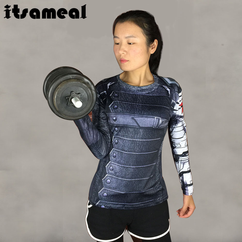 Super Compression Shirt 3D Printed T Shirt Women Raglan Long Sleeve Cosplay Costume Quick Dry Fitness Slim Clothing Tops Female