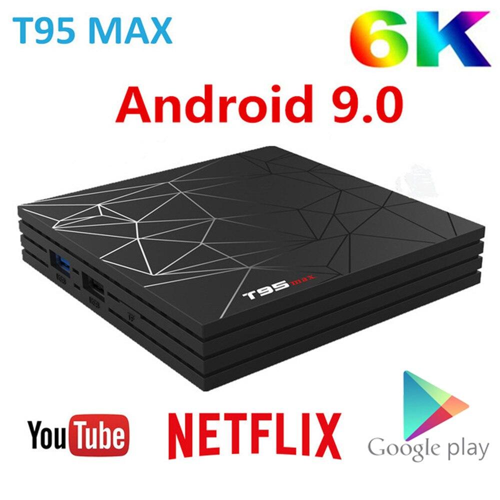 T95 MAX Smart TV BOX Android 9.0 6K 4GB RAM 64GB ROM Allwinner H6 Quad Core H.265 HD USD3.0 2.4G Wifi Youtube T95MAX Set Top BoxT95 MAX Smart TV BOX Android 9.0 6K 4GB RAM 64GB ROM Allwinner H6 Quad Core H.265 HD USD3.0 2.4G Wifi Youtube T95MAX Set Top Box