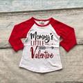 baby girls raglan tops V-day raglan girls mommy's little raglans Valentine Autumn top girls Valentines day icing raglans tshirt