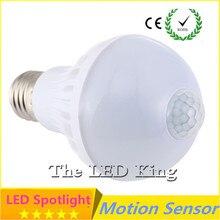 Интеллектуальный звуковой PIR датчик движения светодиодный светильник s SMD5730 E27 220 В 3 Вт 5 Вт 7 Вт 9 Вт 15 Вт Глобус лампы коридор лампа с датчиком