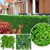 48pcs 25x25cm Artificial Ivy Fence UV Proof Plastic Ivy Wall Decorative Artificial Plants Hedges Garden Ornaments