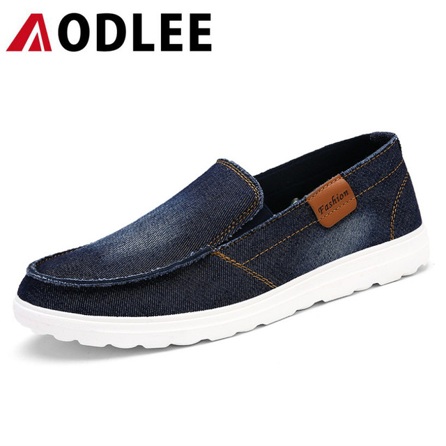 23a63a27a25 AODLEE Brand Luxury Mens Shoes Breathable Men Casual Shoes Jeans Canvas  Shoes Slip On Loafer for Men Fashion Flats Driving Shoes