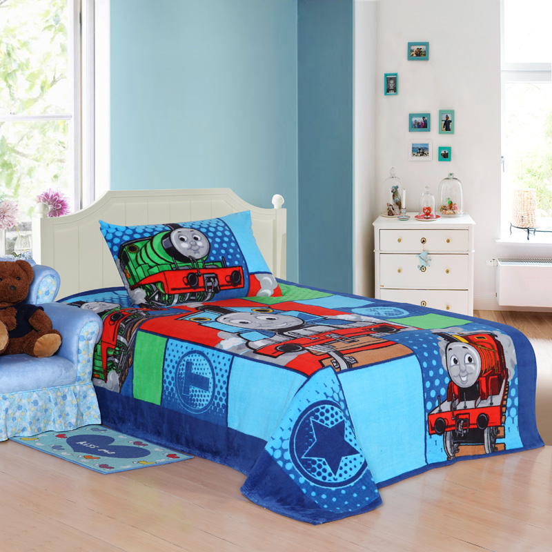 Train Thomas Bedding Set Twin Size Kids Cartoon Toddler Children Bed Sheet Quilt Duvet Cover Bedspread Bedsheet Single Winter In Sets From Home