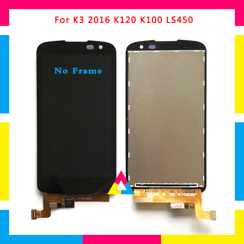 LCD Display Screen With Touch Screen Digitizer Assembly For <font><b>LG</b></font> K3 2016 K120 <font><b>K100</b></font> LS450 Black Replacement image