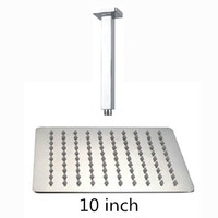 10 inch shower head with arm 250*250 stainless steel head shower with ceiling shower arm top water saving rain shower
