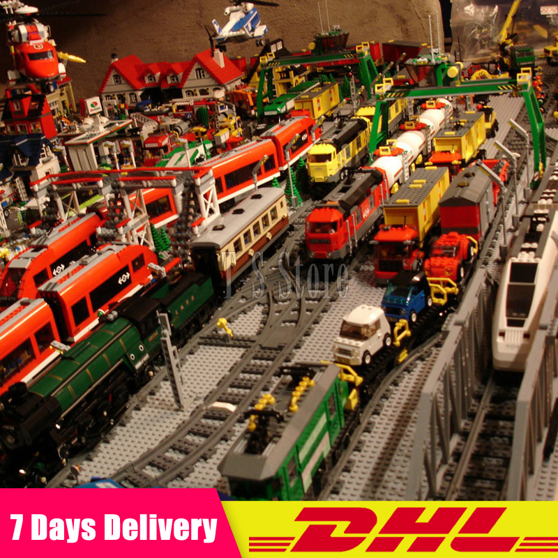 DHL LEPIN Train Emerald Night Train Motor Cargo Train Maersk Train Horizon Express 02008 02009 02010 02039 02117 02118 Blocks мотоцикл horizon motor r2