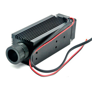 Image 2 - 33mm x 80mm focusable 알루미늄 c 마운트 적외선 레이저 다이오드 diy 하우징/케이스/호스트 w/냉각 팬 및 유리 렌즈
