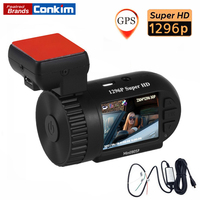Conkim Car Camera Full HD 1296P Dash Cam ADAS LDWS Pro Capacitor Driving Recorder Auto Registrar Parking Hard Wire Kit