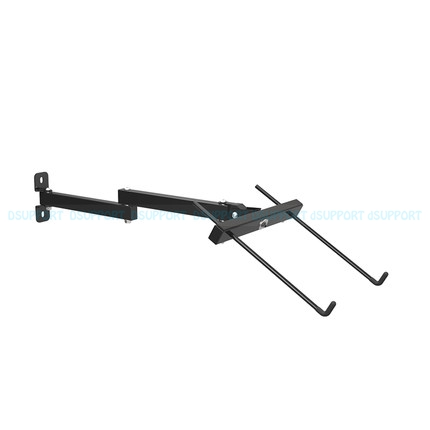 Foldable Wall Mount 17-27 inch Laptop Holder Two Arms Full Motion Laptop Cooler Retractable Notebook Hanger