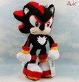 Sonic the hedgehog negro super sonic 12 ''short muñeca de peluche de juguete de felpa de algodón pp