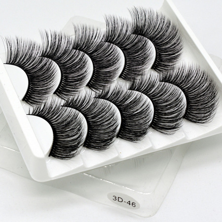 5 pairs natural false eyelashes fake lashes long makeup 3d mink lashes eyelash extension mink eyelashes for beauty DOCOCER | american doll