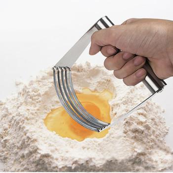 Rzemiosło do kuchni ze stali nierdzewnej ciasto do krojenia mieszalnik do ubijania ręczne narzędzie do ubijania tanie i dobre opinie Ciasta miksery Ekologiczne Zaopatrzony STAINLESS STEEL Narzędzia do pieczenia i cukiernicze Ce ue
