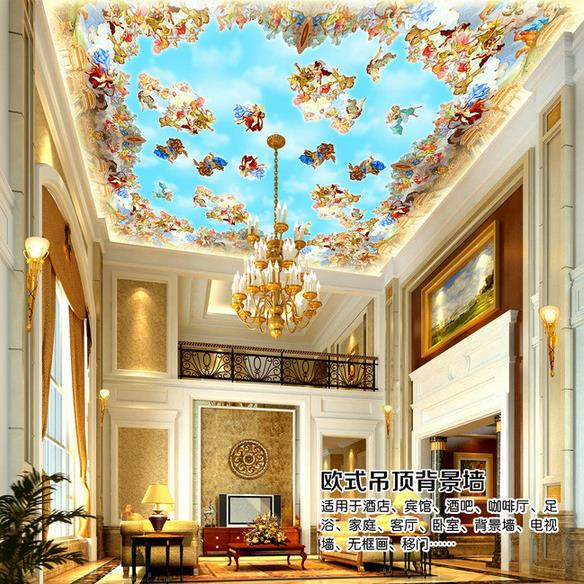 Custom photo 3d wallpaper Non-woven mural European medieval ceiling decoration painting 3d wall murals wallpaper for walls 3d танкини own brand 2015 tankinis 2 yy011