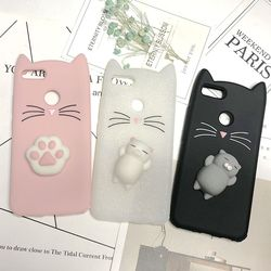3D Japan Cute Cartoon Beard Cat Squishy Phone Cases For Xiaomi Redmi Note 5A 5 Pro 3 4 4X Cover Redmi 5A 4A Silicone Cases Coque