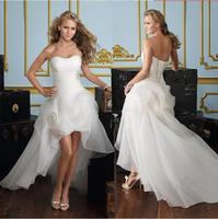 Vestido de festa Strapless wedding dresses white simple bridal dress wedding gown church wedding party robe de soiree