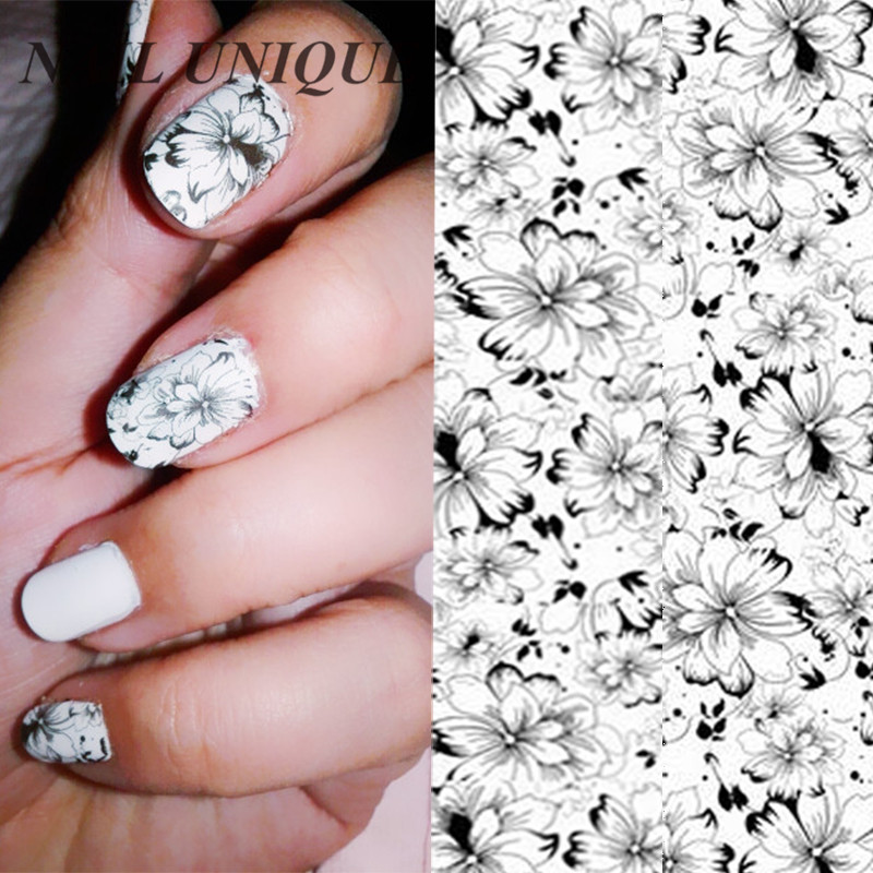 1 Sheet NICOLE DIARY Nail Art Water Tattoo Design Manicure Flowers Water Transfer Sticker Nail Art Water Decals zq 002 spain flag world cup water transfer nail sticker accessories football serie nail tattoo 22 different design
