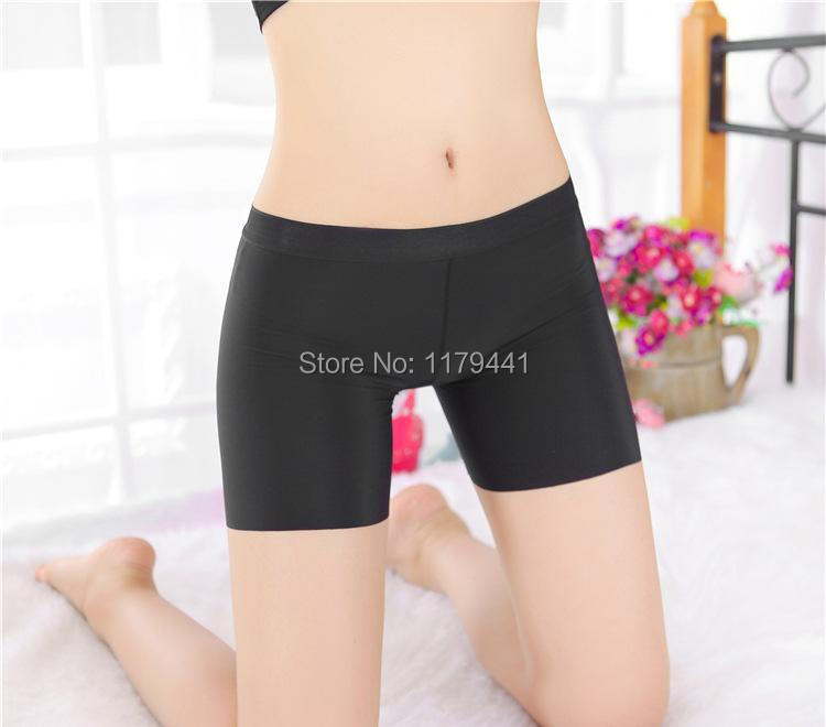 Free Shipping  Low Waist New Seamless Ice Silk Solid Everyday Teenage Girl Boxer Short Young Girl's Panties Clothes 3pc/lot