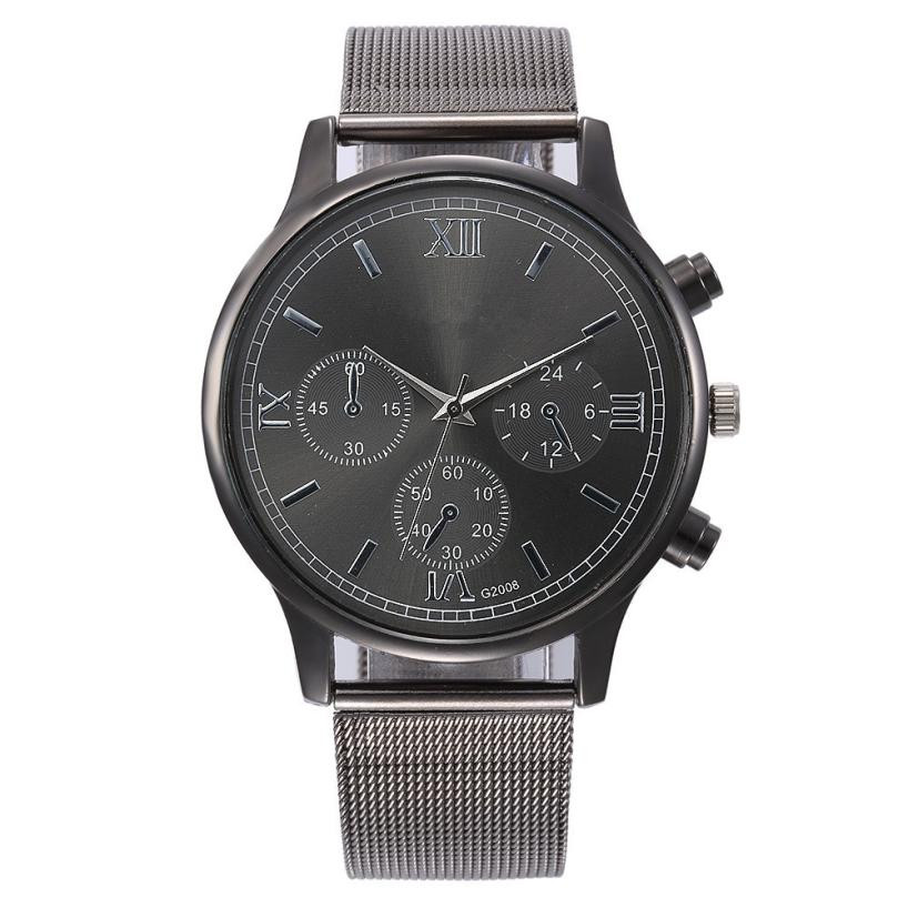 watch men 2018 fashion Luxury brand Unisex popular womens watches Quartz Stainless Steel Dial Leather Band WristWatch clock gift