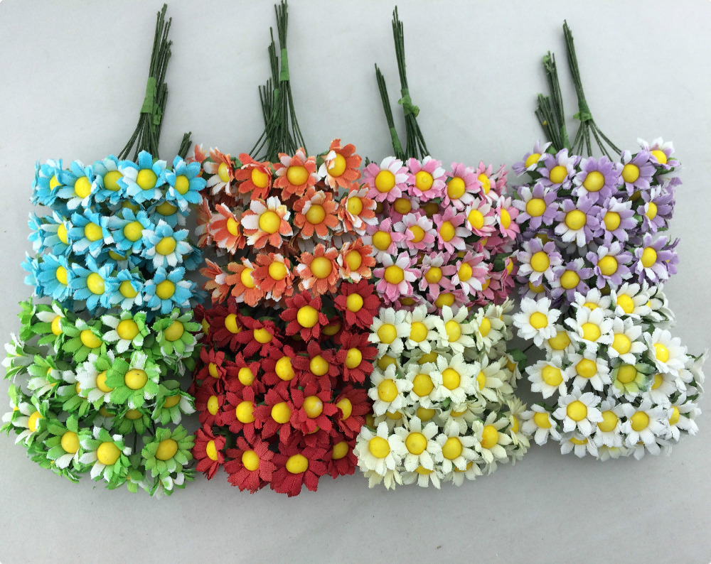 Compare prices on paper daisy flower online shoppingbuy low 2014 new 15cm 120pcslot head 4 colors mulberry daisy paper flower dhlflorist Gallery