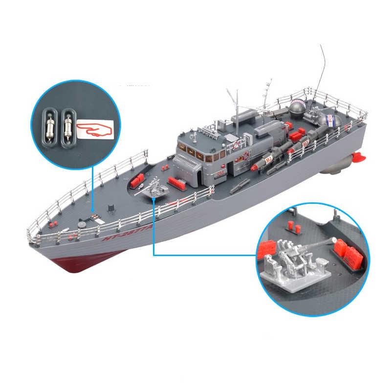 Rcボート 1/275 駆逐艦リモートコントロール軍用海軍血管レーシング船電子子供のための誕生日趣味のおもちゃ