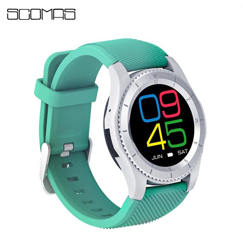 SCOMAS Bluetooth Smart Watch SIM Card Phone Call Smartwatch Social Network Notification Students Smart Wrist Watches for Women