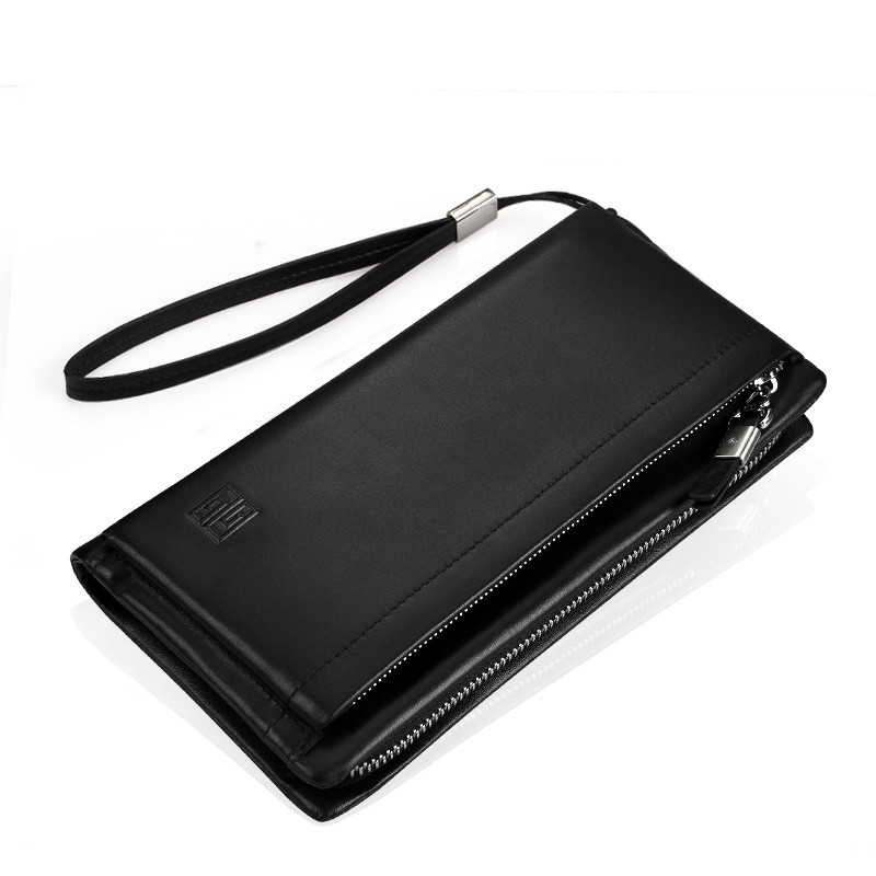 купить Luxury Brand Men Wallets Long Men Purse Wallet Male Clutch Calf Genuine Leather Zipper Wallet Men Business Male Wallet Coin по цене 3335.28 рублей