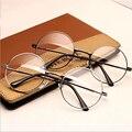 TFJ Женщины Старинные Очки Кадр Равнине Зеркало Большой Круглый Металлический оптически Рамка Для Девушка Очки Прозрачные Линзы óculos feminino де грау
