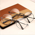 TFJ Women Vintage Glasses Frame Plain Mirror Big Round Metal Optical Frame For Girl Eyeglass Clear Lens oculos feminino de grau