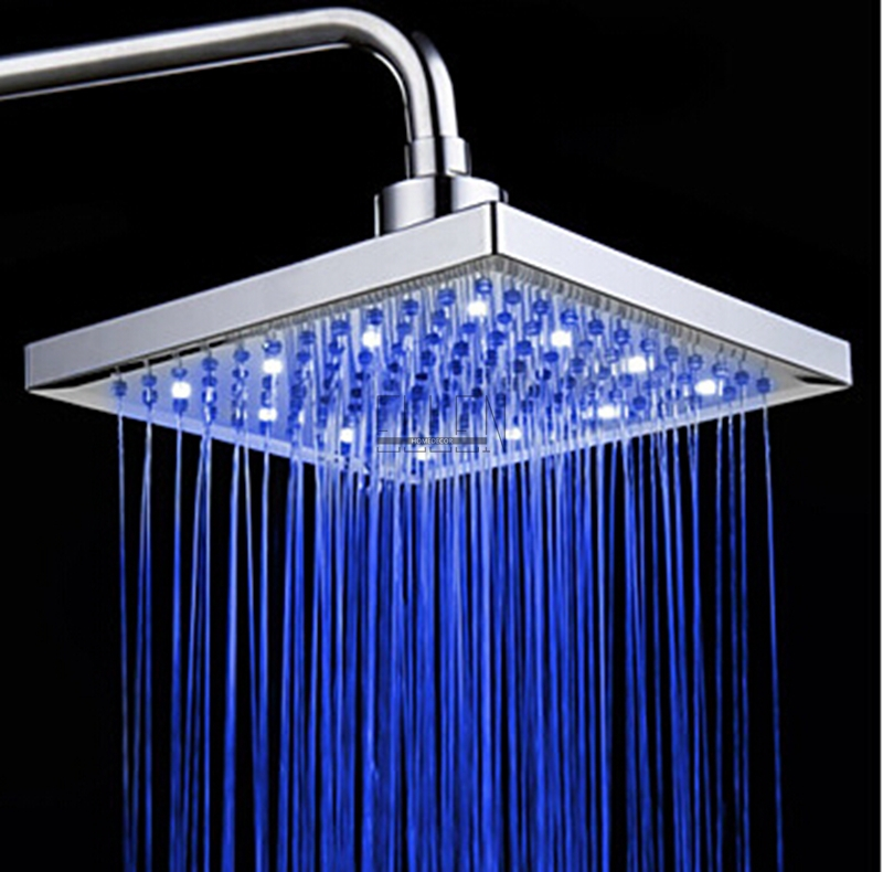 rain shower head with lights. LED Square Shower Head 8  Rain Light Change Power From Water Flow 3 Color In Shower Heads Home Improvement On Aliexpress Com
