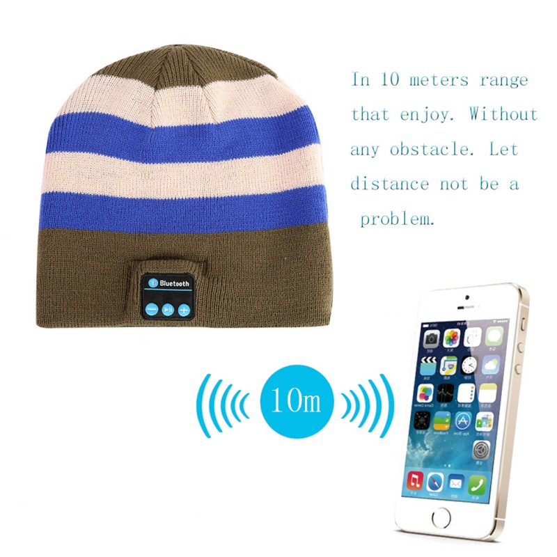 Women and Men's Smart Hat Soft Music Cap with Built in Wireless Bluetooth Headphones otamatone toy music instruments for kids with 8 built in songs