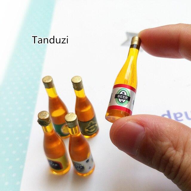 tanduzi 1:12 echelle 5 bouteilles de bière assorties maison de
