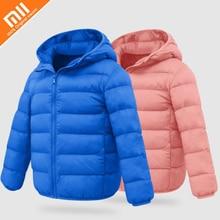 Original xiaomi mijia biológico cashmere fina das crianças roupas meninos e meninas roupas de inverno casaco de veludo de algodão casa inteligente