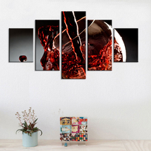 Canvas Pictures Home Decoration 5 Pieces Red Grape Wine Paintings Wall Art Prints Fashion Poster Hotel Modular For Living Room