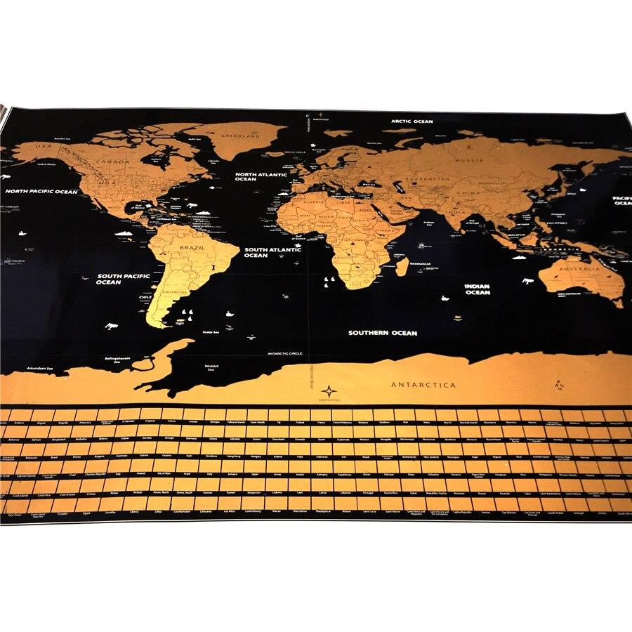 Trasporto di goccia magazzino Americano Mappa Del Mondo di viaggio mappe 82x59 cm