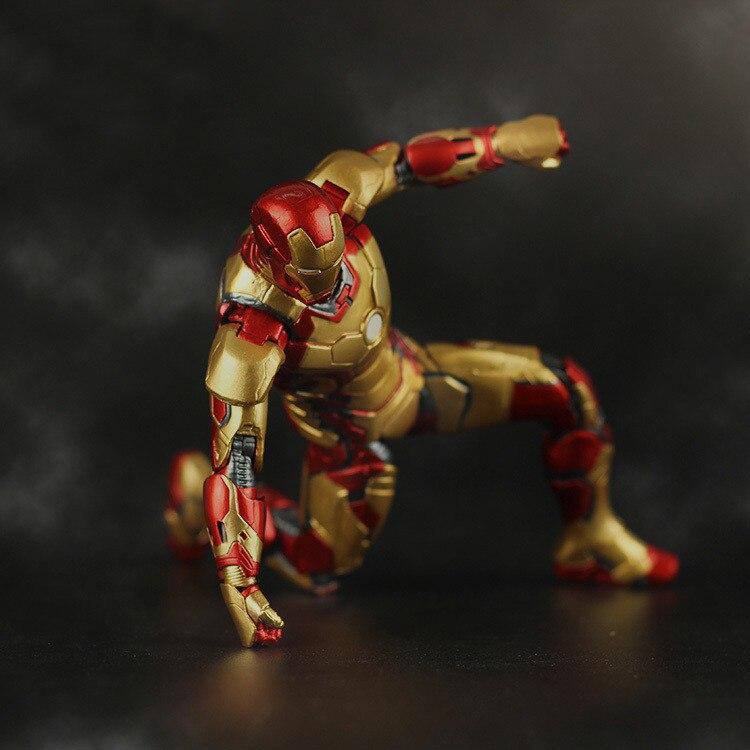 Free Shipping Marvel Iron Man 3 Action Figure Superhero Iron Man Tonny Mark 42 Mark 43 PVC Figure Toy 18cm Chritmas Gift