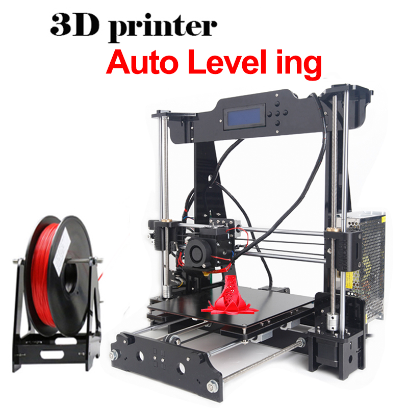 Anet Auto Leveling Optional High Precision Reprap Prusa I3 3d printer DIY Kit With Free 1Roll Filaments Aluminum Hotbed LCD Gift