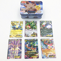 2018 new card 42pcs/box Pokemonend cards English metal box children Games Cards toy gift Free shipping toy cards