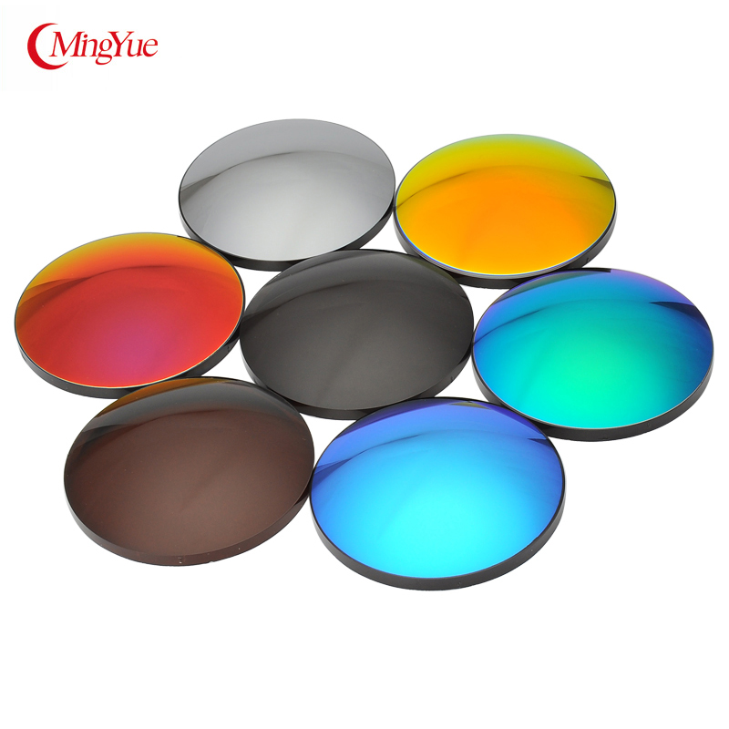 1.56 1.61 1.67 (Sph-8.50-0 Cyl -2.00-0 ) Color Glasses Sunglasses With Diopters Prescription CR-39 Eye Color Lenses 1 Piece