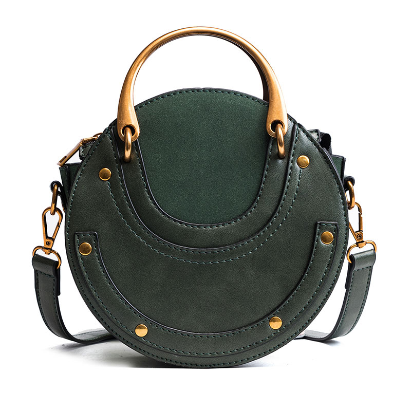 2018 New Fashion High-quality PU Leather Handbag Mini Shoulder Cross-body Bag Small Round Package Women bag