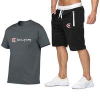 Yxym Summer New Men's Shorts Casual Suits Sportswear Mens Clothing Man Sets Pants Male Sweatshirt Men Brand Clothing